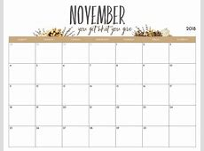 blank calendar november 2018 printable Thevillasco