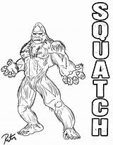 Bigfoot Coloring Pages Finding Colouring Drawing Sasquatch Squatch Deviantart Rictor Riolo Lineart Clipart Template Footprints Library Templates Stencils Clip Popular sketch template