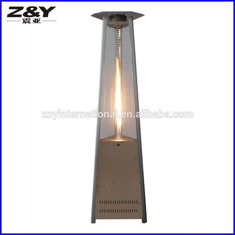 hot sell glass tube pyramid outdoor garden flame gas patio