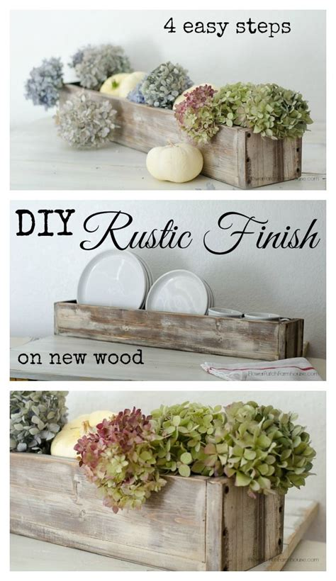 Diy Wood Working Projects How To Get A Rustic Finish On