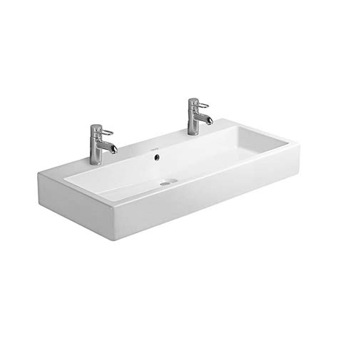 Compact Sinks by Duravit Vero White 1000 X 470mm 2 Tap Hole Washbasin