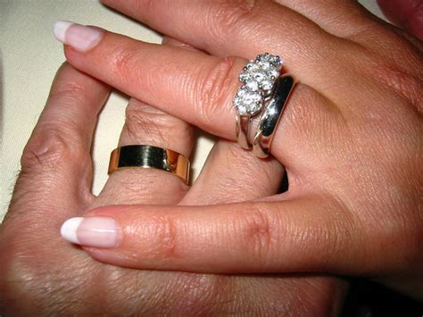 wearing wedding band wearing wedding band on right hand