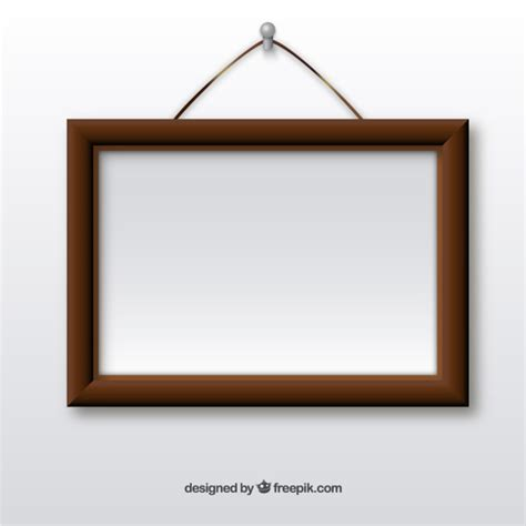 Wooden Frame Hanging On Wall Vector  Free Download