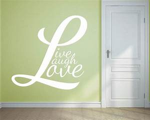 live laugh love quotes wall decal motivational vinyl art With kitchen colors with white cabinets with live laugh love wall art stickers