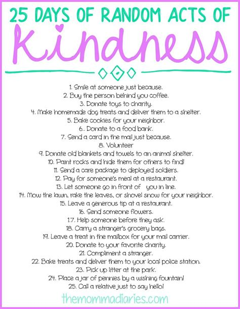days  random acts  kindness  printables