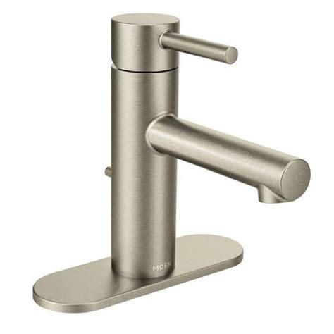 moen bathroom sink faucets menards moen align single handle high arc bathroom faucet