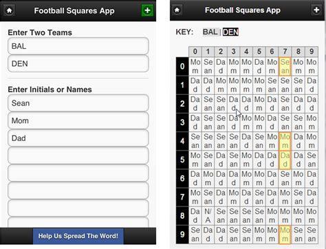 Www My Office Football Pool by Football Squares App