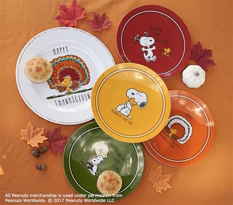 Pottery Barn Thanksgiving Plates by Peanuts 174 Thanksgiving Plates Pottery Barn