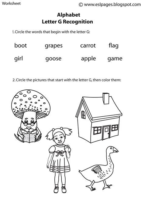 esl pages alphabet worksheets