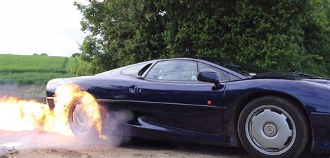 jaguar xj lights tires  fire  ultimate burnout
