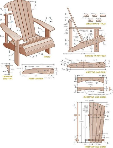 adirondack chair plan view adirondac plans rocking