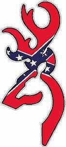 rebel flag browning decal | DEER HEAD FILLS Rebel Flag ...