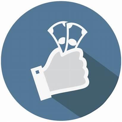 Financial Icon Finance Service Sell Mobile America