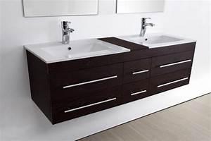 meuble salle de bain double vasque sam weng vasque With meuble salle de bain double vasque 140 cm