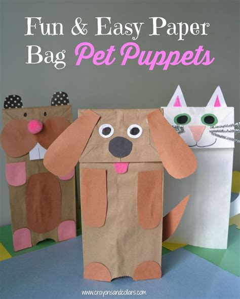 601 best arts crafts diy images on easy paper bag puppets bags pets and paper bags 601 b