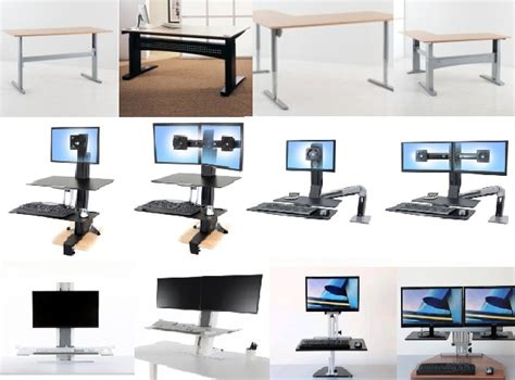 sit stand desk options choosing a sit stand desk what is the right option for