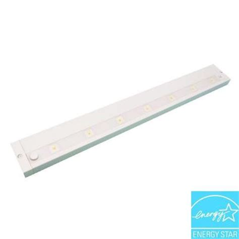 dimmable led under cabinet lighting juno 24 in white led dimmable linkable under cabinet