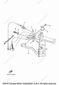 Yamaha Atv 2014 Oem Parts Diagram For Handle Switch