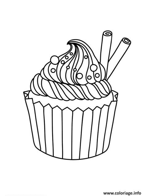 coloriage cupcake vintage dessin