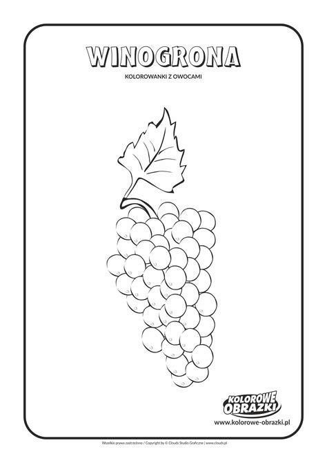 kolorowanki dla dzieci rośliny winogrona kolorowanka
