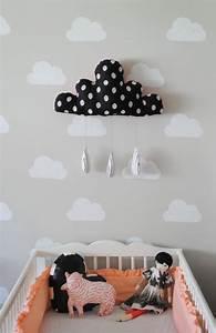 pochoir nuage pour deco murale With pochoir peinture murale deco