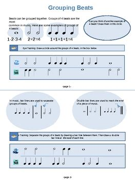 Check out more music theory for. Grouping Beats (Bar Lines and Double Bar Lines) by Audrey ...