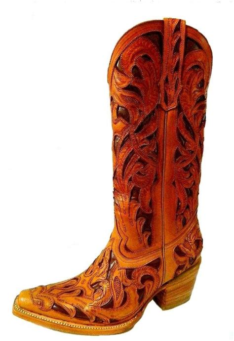 custom hand tooled cowboy boot   order  style