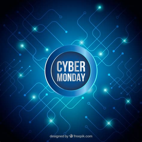 Cyber Background Bright Background Of Cyber Monday Vector Free