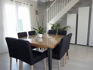 attrayant table salle a manger ronde avec rallonge 14 With meuble salle À manger avec table salon salle a manger
