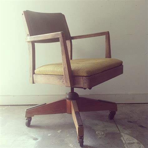 vintage wood office chair makeover with stain and