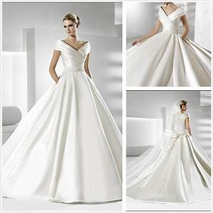 china simple but elegant satin wedding dress xz186 With simple and elegant wedding gown