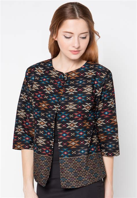 trend model baju kerja batik wanita   model baju