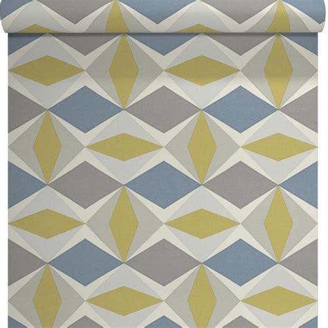 papier peint vinyle sur intiss 233 ecorce losange gris