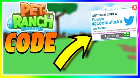 pet ranch simulator  code  coins youtube