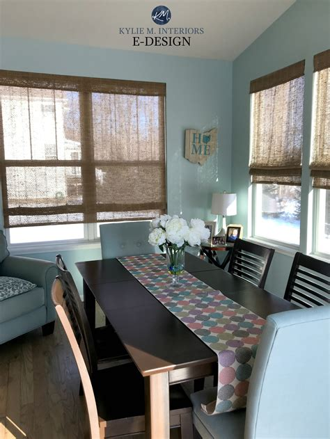 sherwin williams tidewater in dining room best blue paint colour m interiors edesign