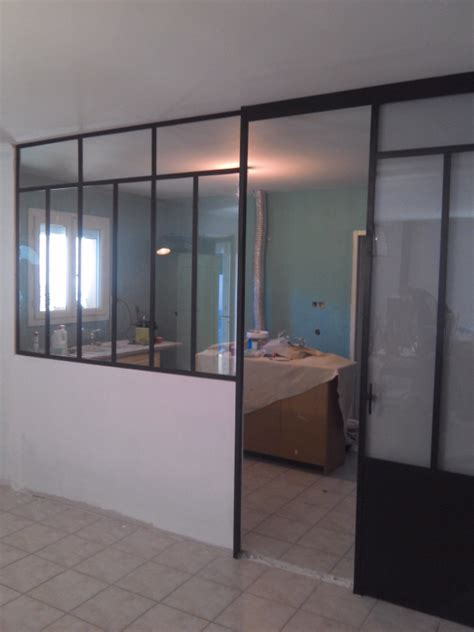 porte cuisine coulissante verrière moderne fer forgé de cuisine avec porte