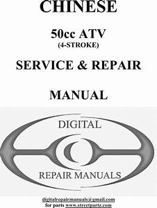Chinese 50cc Atv Service  U0026 Repair Manual 2nd Edition