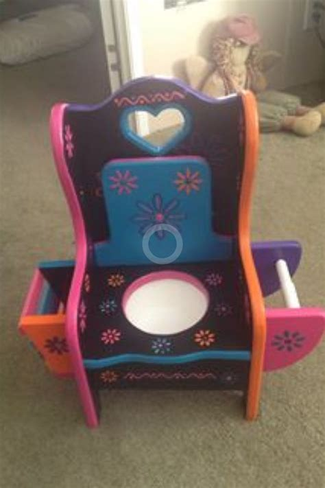 unfinished girls potty chair with magazine rack and toilet