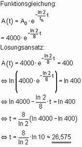 Halbwertszeit Berechnen Formel : anwendungen der exponentialfunktion mathe brinkmann ~ Themetempest.com Abrechnung