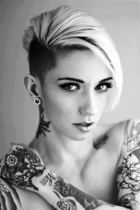 shaved hairstyles  women elle hairstyles