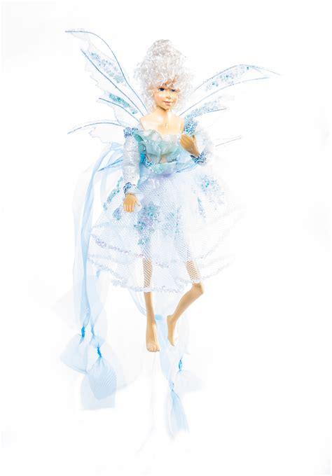 fairies hanging fairies blue fairies elves christmas