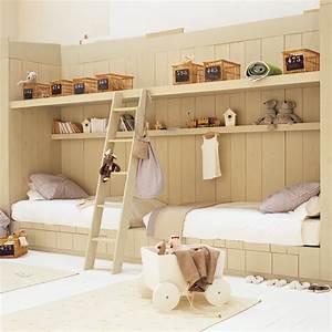 Lit Cabane Bebe : une chambre d 39 enfant en bois marie claire ~ Teatrodelosmanantiales.com Idées de Décoration