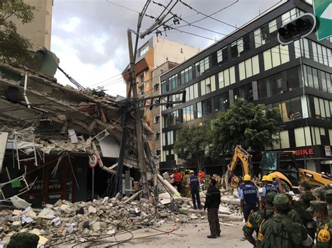 Scenes Of Earthquake Damage From Mexico City Neighborhood