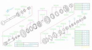2006 Subaru Wrx Manual Transmission Pinion Bearing  Shaft