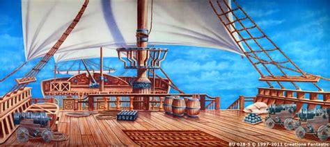 Backdrop BU028-S Pirate Ship Deck | Pirate images, Pirate ...