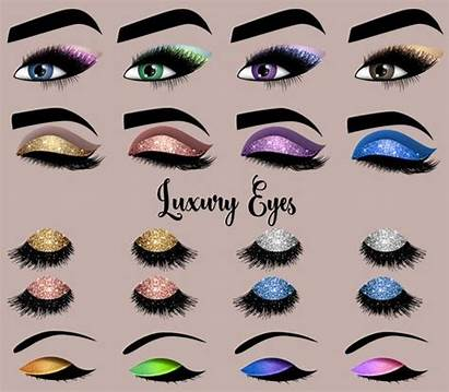 Clipart Eyes Luxury Makeup Clip Glitter Eyelash