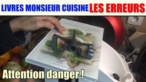lidl recettes de cuisine livres de recettes monsieur cuisine les erreurs