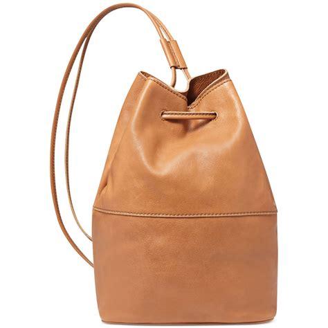 zip sling bag lyst fossil vintage reissue leather sling bag in brown