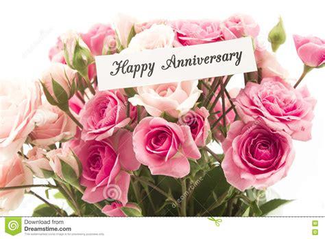 gelukkige verjaardagskaart met boeket van roze rozen stock foto afbeelding bestaande uit roze