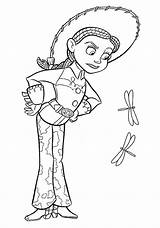 Jessie Coloring Pages Sam Cartoon sketch template